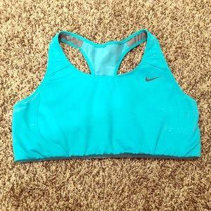 Nike Turquoise Medium Impact Sports Bra!!
